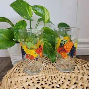 Set of two large fruit glasses
